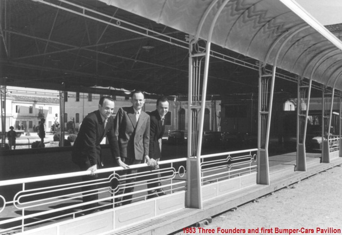 1953: Three Founders and first Bumper Cars Pavilion